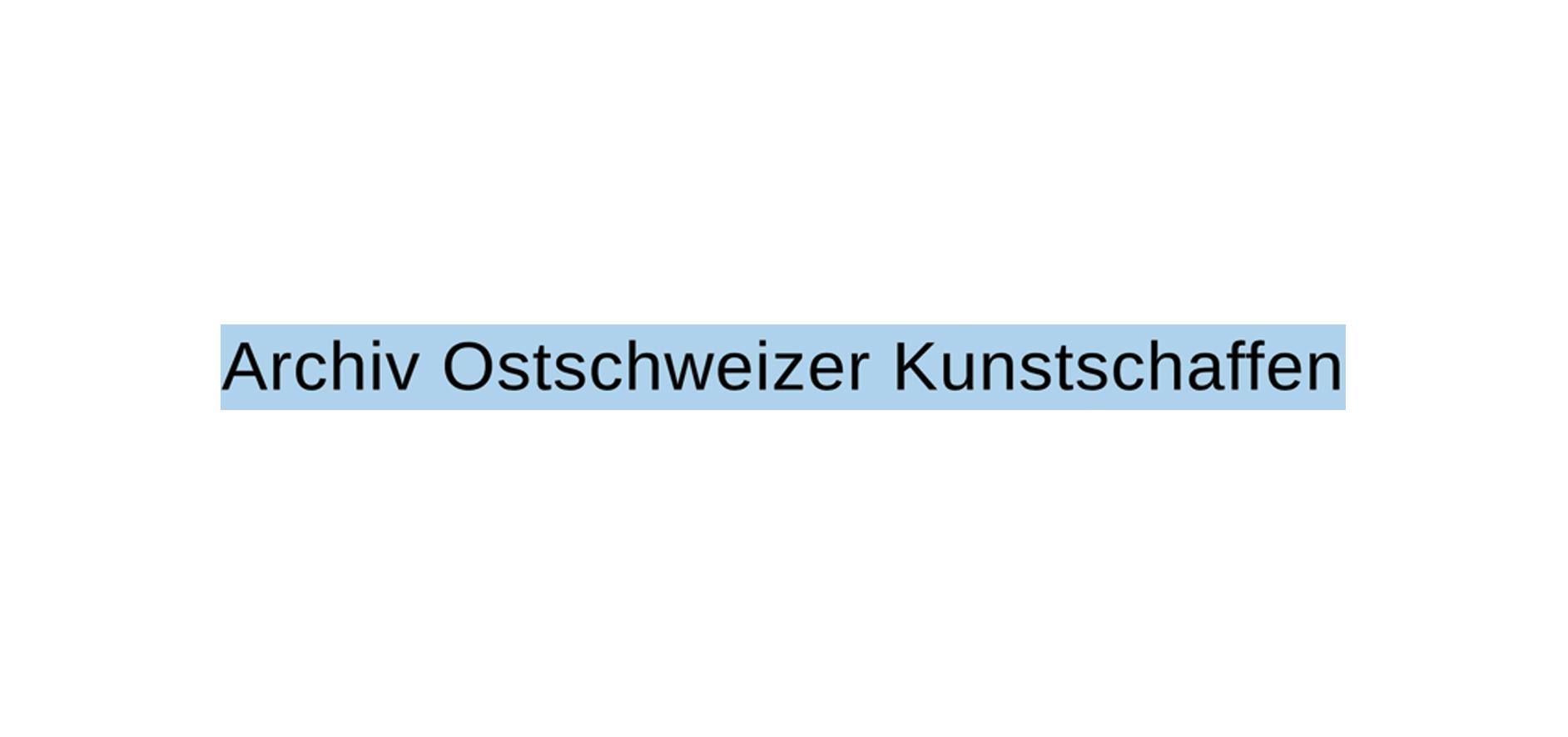 Archiv Ostschweizer Kunstschaffen