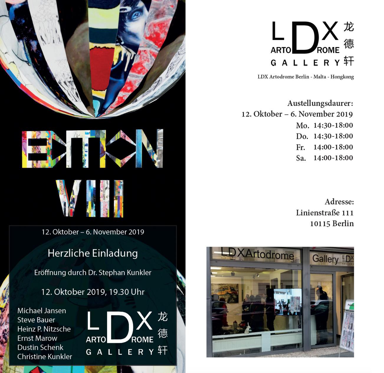 """LDX ARTODROME GALLERY – EDITION VIII """"ÜBER KUNST UND ÄSTHETIK"""", BERLIN, DEUTSCHLAND"""